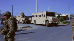 Military Vehicles (HD) c Stock Footage