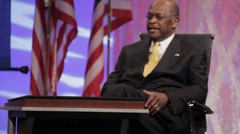 "Presidential Candidate Herman Cain - ""Against the Odds"" speech Stock Footage"