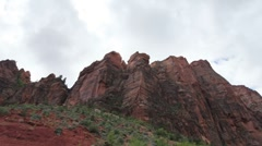 Amazing rock structures in zion national park utah usa Stock Footage