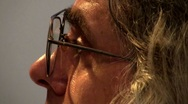 The man in the glasses Stock Footage
