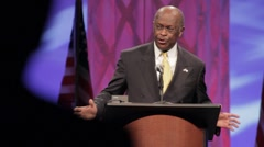 "Presidential Candidate Herman Cain ""Comittee"" speech Stock Footage"