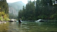 Stock Video Footage of Fly Fishing Gallatin 17c SL