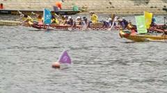 Dragon boat races in HongKong - 012 Stock Footage