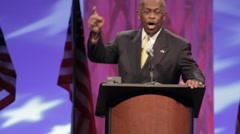 "Presidential Candidate Herman Cain - ""Budget 2"" - stock footage"