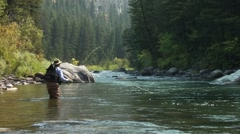 Fly Fishing Gallatin 16 Stock Footage