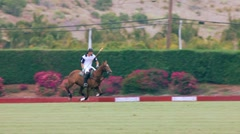 2 POLO RIDERS RACE FOR BALL Stock Footage