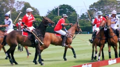 POLO PLAYERS FIGHT FOR BALL Stock Footage