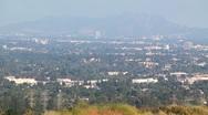 Hazy San fernado valley tilt up Stock Footage
