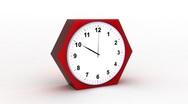 Timelapse clock on white 3d Stock Footage