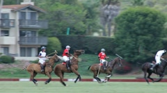 POLO PLAYERS CHANGE DIRECTION Stock Footage