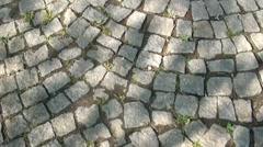 walking along a stone pavement - stock footage