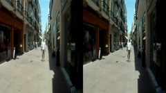 Sevilla Spain store fronts 3D HD.mp4 Stock Footage