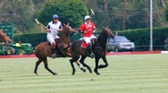 POLO PLAYERS GO FOR BALL Stock Footage