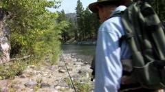 Fly Fishing Gallatin 13 Stock Footage