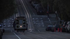 Cable Car San Fransisco Stock Footage