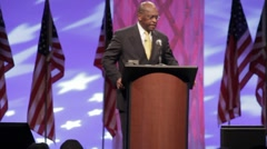 Presidential Candidate Herman Cain - Opening Remarks - stock footage