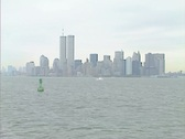 Stock Video Footage of The twin towers and the Manhattan skyline