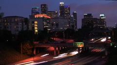 Night 110 harbor fwy Stock Footage