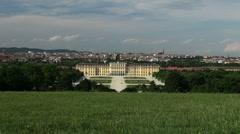 Imperial Gardens at Vienna's Schonbrunn - stock footage