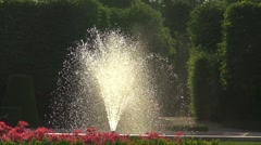 Imperial Gardens at Vienna's Schonbrunn - stock footage