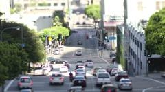 Raffic on freeway in downtown los angeles Stock Footage
