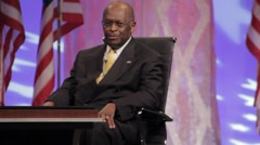 "Presidential Candidate Herman Cain - ""The Federal Reserve Audit"" speech - stock footage"