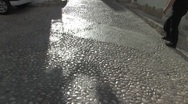 Stock Video Footage of Cobblestoned Street of Altea