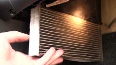 Cabin filter car Stock Footage