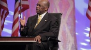 "Stock Video Footage of Presidential Candidate Herman Cain - ""Run Government Like a Business"""