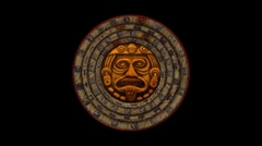 Mayan 2012 Doomsday Rotating Calendar-black screen-looping - stock footage