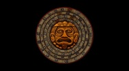 Stock Video Footage of Mayan 2012 Doomsday Rotating Calendar-black screen-looping