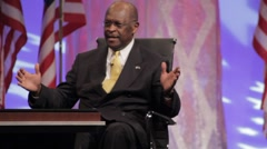 "Presidential Candidate Herman Cain - ""Federal Reserve Audit part 2"" - stock footage"