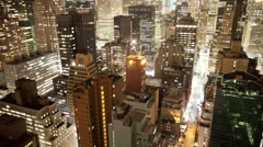 New york manhattan skyline usa 4k Stock Footage