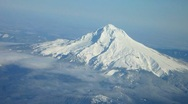 Stock Video Footage of Mt. Hood Aerial