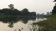 Stock Video Footage of A Reflective Lake in Dhaka