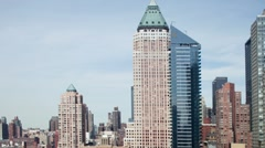 New york manhattan skyline usa Stock Footage