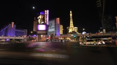 Flamingo/Las Vegas Blvd. intersection - stock footage