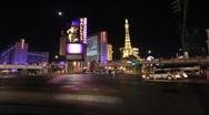 Flamingo/Las Vegas Blvd. intersection Stock Footage