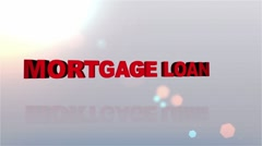 MORTGAGE LOAN Desire Button - HD1080 - stock footage