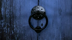Old Wooden Door Opening HD - stock footage
