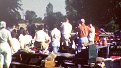 Family Reunion Company Picnic July 4th 1960s Vintage Film Retro Home Movie 161 Stock Footage