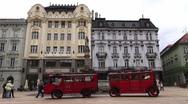 Center town of Bratislava Stock Footage