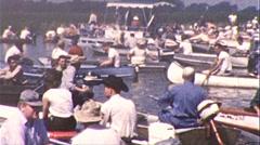 Fishing Season Opens on Lake Circa 1960 (Vintage Film 8mm Home Movie) 159 Stock Footage
