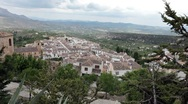 Spain valley from mountain castle P HD 9998 Stock Footage