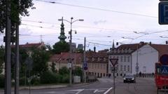 Urban landscape in Bratislava - stock footage