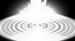 Internet laser and CD background,glowing white heaven light and tech round ener Stock Footage