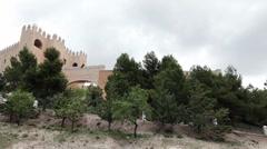 Castle Spain pan P HD 9981 Stock Footage