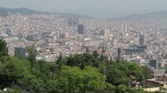 Barcelona Spain city pan across P HD 8654 Stock Footage