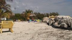 Quiet beach Stock Footage