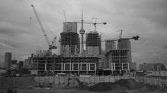 Condo construction. Timelapse. Stock Footage